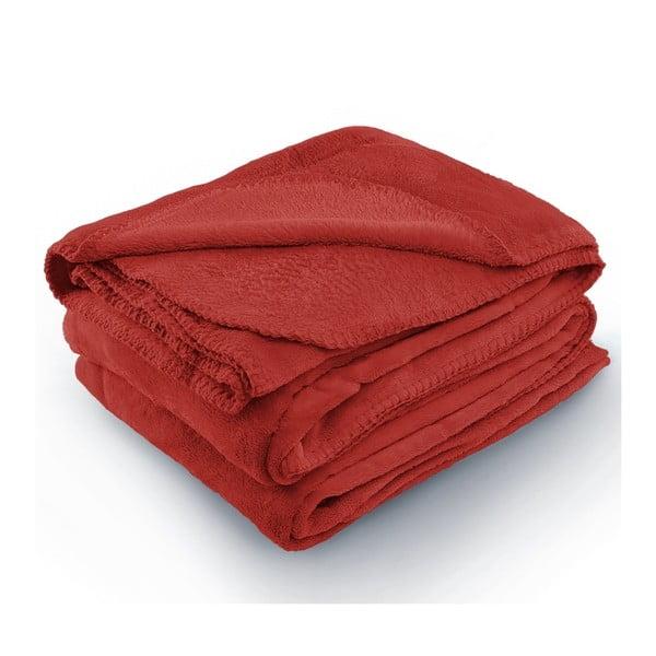 Pătură din microfibră AmeliaHome Tyler, 70 x 150 cm, roșu