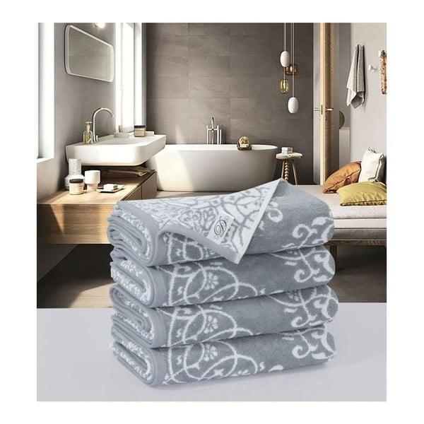 Sada 4 bavlněných ručníků Muller Textiels Preyo, 50 x 100 cm