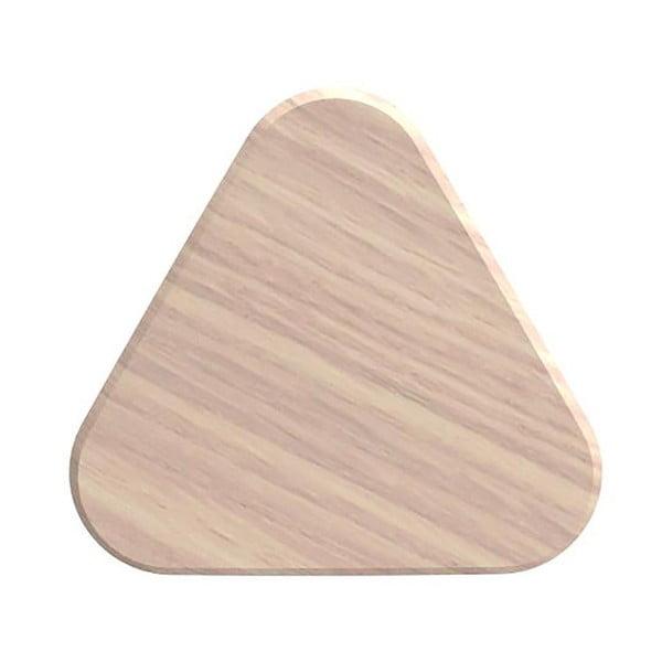 Cârlig de perete din lemn de stejar HARTÔ Leonie, Ø 10 cm