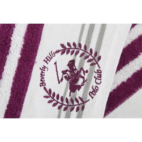 Bavlněná osuška BHPC White 80x150 cm, fialová