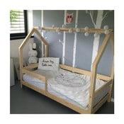 Dětská postel s vyvýšenými nohami a bočnicemi Benlemi Tery,80x160cm,výška nohou20cm