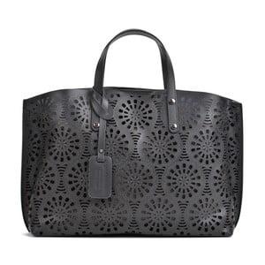Černá kožená kabelka Mangotti Bags Lulia