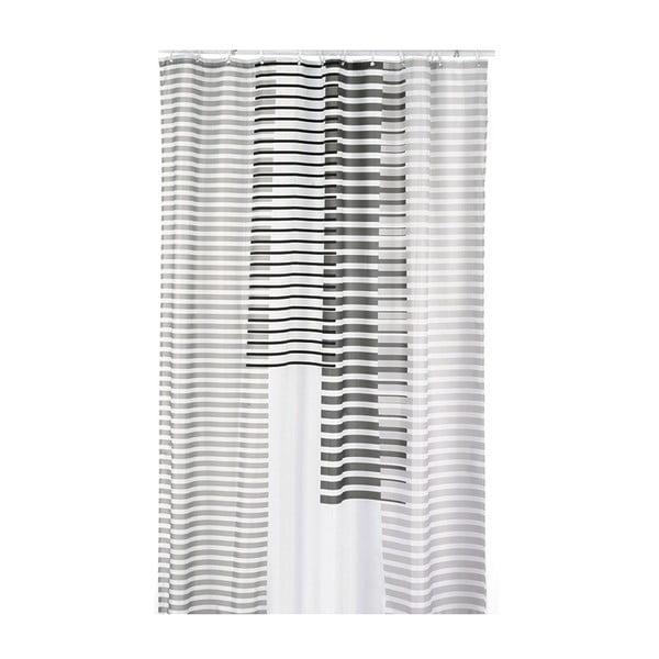 Sprchový závěs Lamara, světle šedý, 180x200 cm