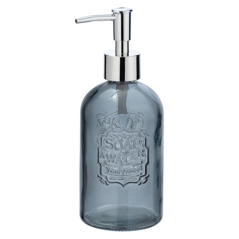 Produktové foto Šedý skleněný dávkovač na mýdlo Wenko Vetro, 520ml