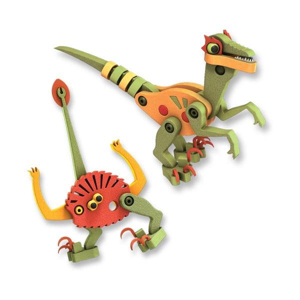 Stavebnice Bloco Velociraptor a Pterosaurus