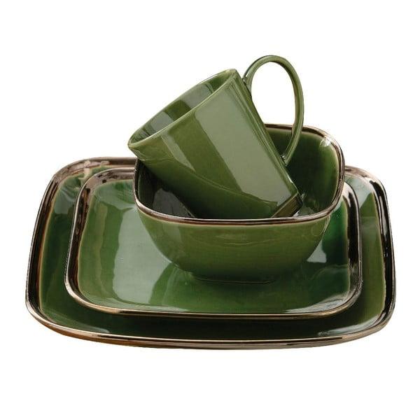 Set 16 ks nádobí Bronze Verde
