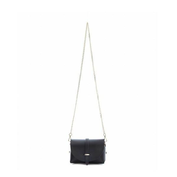 Černá kožená kabelka Sofia Cardoni Dunna