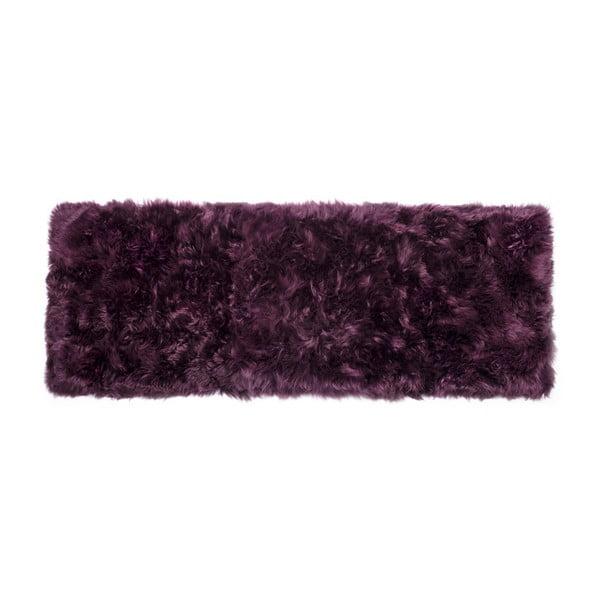Fialový koberec z ovčí vlny Royal Dream Zealand Long, 70x190cm