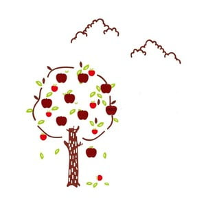 Nástěnná samolepka Mauro Ferretti Apples