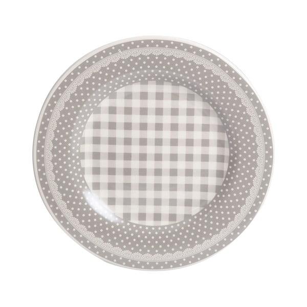 Dezertní talíř Grey Dots&Checks, 20.5 cm