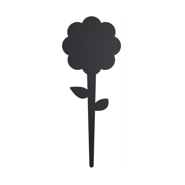 Psací štítek s křídovým popisovačem Securit Silhouette Flower, 18x8cm