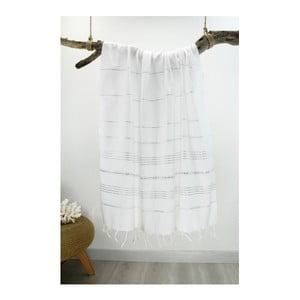 Prosop Hammam Classic Style, 100 x 180 cm, alb