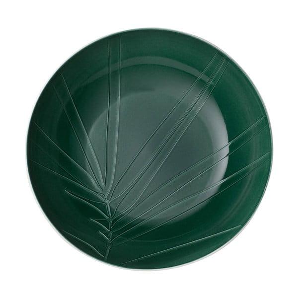 Bílo-zelená porcelánová servírovacia miska Villeroy & Boch Leaf, ⌀ 26 cm
