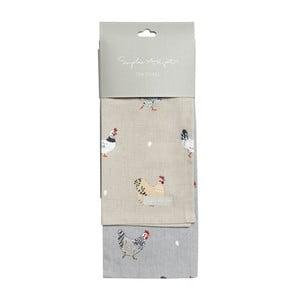 Sada 2 utěrek Sophie Allport Rooster, 45 x 65 cm