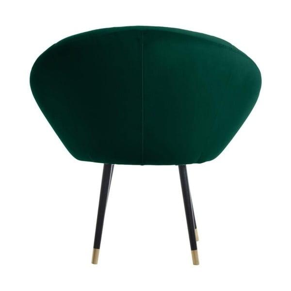Tmavě zelené křeslo s detaily ve zlaté barvě JohnsonStyle Bjorn French Velvet