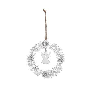 Decorațiune pentru Crăciun Ego Dekor, alb, cerc - înger imagine