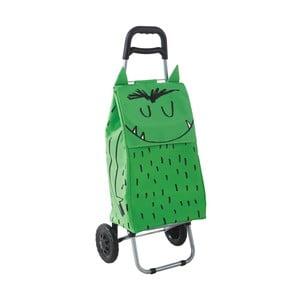 Nákupní taška na kolečkách Monster Green
