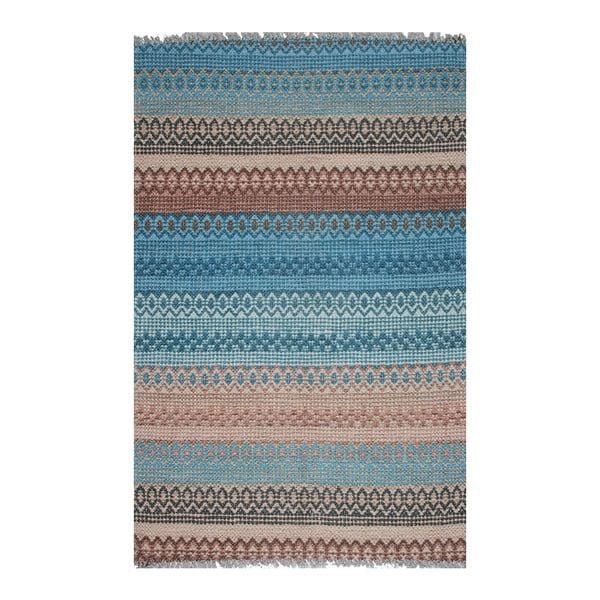 Modrý pruhovaný koberec Eco Rugs Kirin, 80x150cm