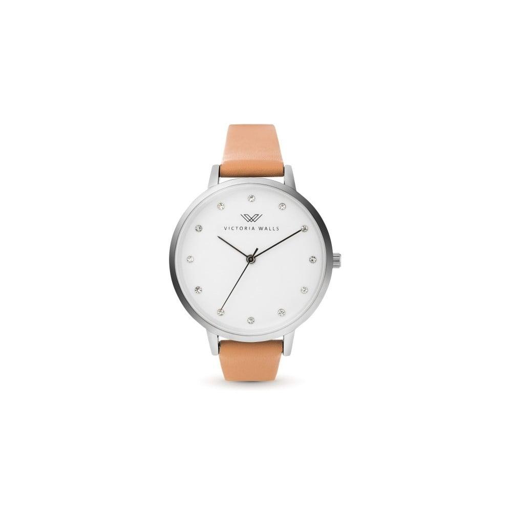 Dámské hodinky s hnědým koženým řemínkem Victoria Walls Morah