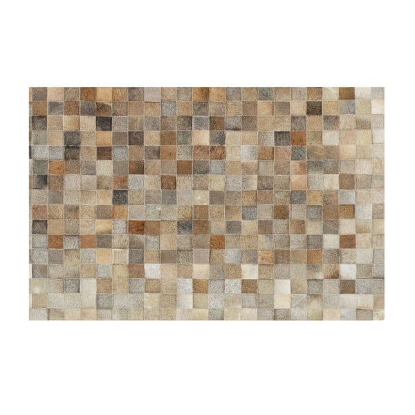 Koberec z pravé kůže Sao Paulo Beige, 140x180 cm