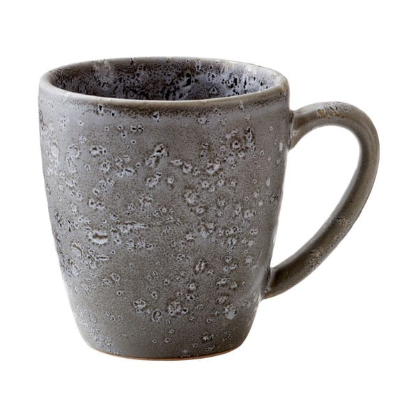 Šedý kameninový hrnek s ouškem Bitz Basics Grey, 190 ml