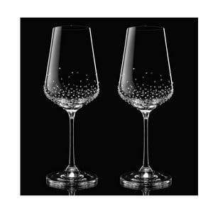Set 2 pahare pentru vin Amon Swarovski Elements în ambalaj luxos