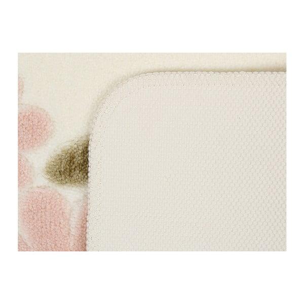 Bílá předložka do koupelny Paris, 55x57cm
