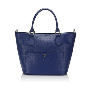 Geantă din piele Giulia Massari 2415 Blue, albastru de la Giulia Massari