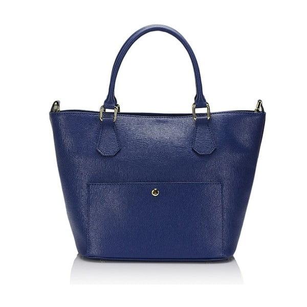 2415 Blue kék bőr kézitáska - Giulia Massari