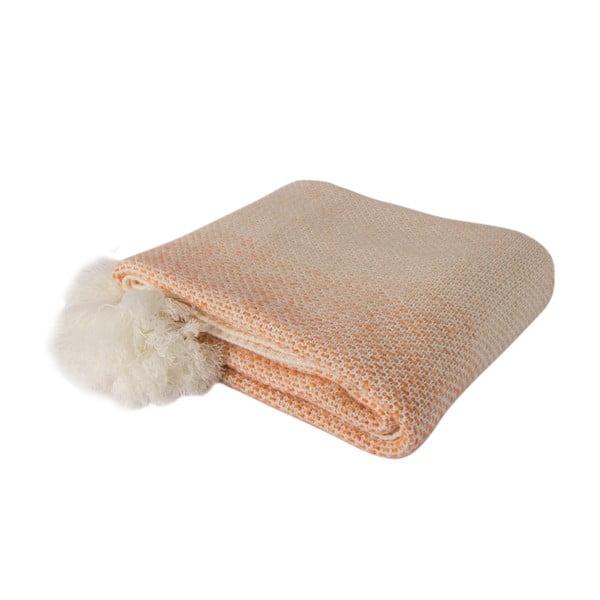 Oranžovo-bílá deka Tete