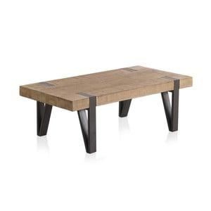 Dřevěný konferenční stolek s kovovými nohami Geese Pina, 120 x 60 cm