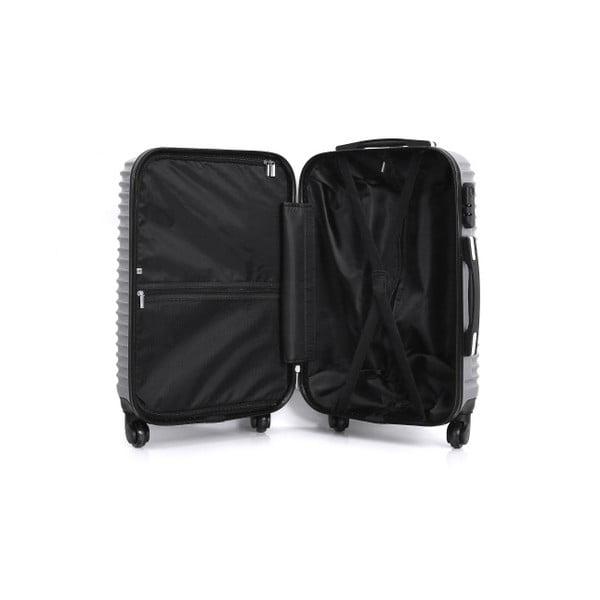 Cestovní kufr ve stříbrné barvě na kolečkách Hero Etna, 61 l