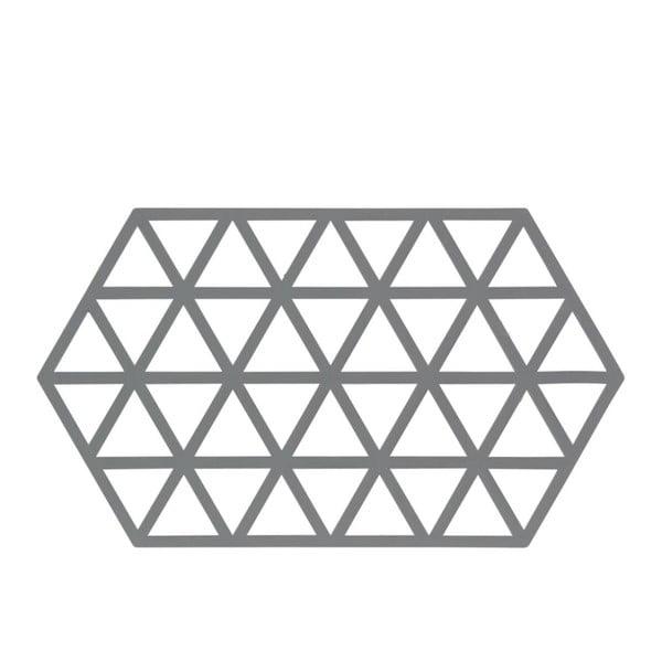 Suport din silicon pentru oale fierbinți Zone Triangles, gri