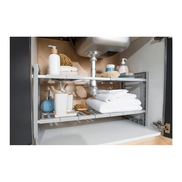 Raft cu lăţime reglabilă pentru chiuvetă Compactor Expandable Shelf