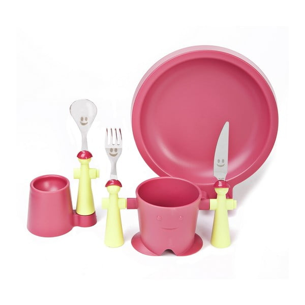 Set dětského nádobí Trebimbi Pink, 6 ks