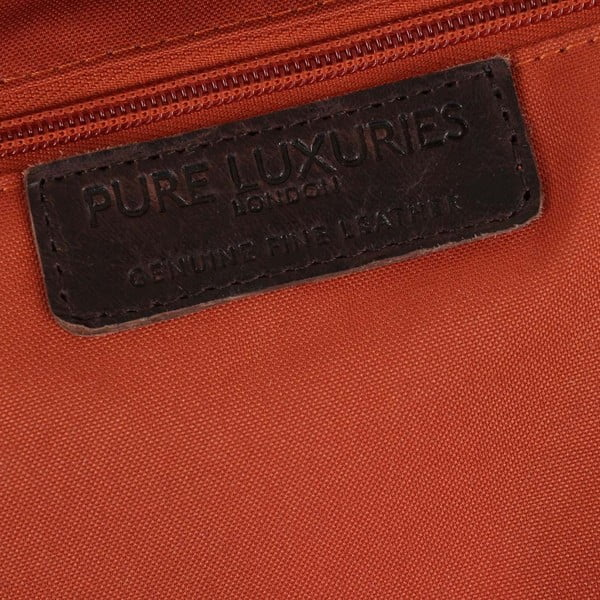 Pánská kožená taška Vintage Dark Brown Leather Cross-Body
