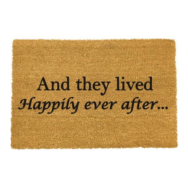 Rohožka z přírodního kokosového vlákna Artsy Doormats Happily Ever After,40x60cm