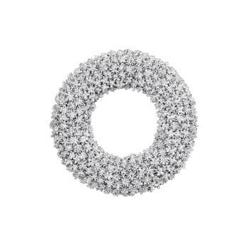 Coroniță pentru Crăciun Ego Dekor, ø 31 cm, argintiu imagine