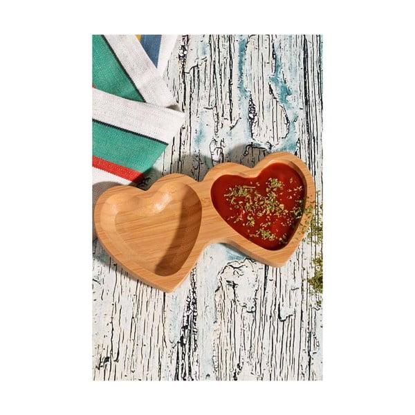 Bambusowa podwójna miska na sosy Hearthy