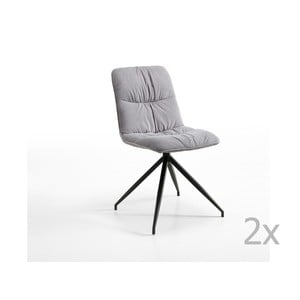 Sada 2 šedých židlí Design Twist Galena