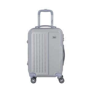 Cestovní kufr na kolečkách ve stříbrné barvě s kódovým zámkem SINEQUANONE Iskra, 44l