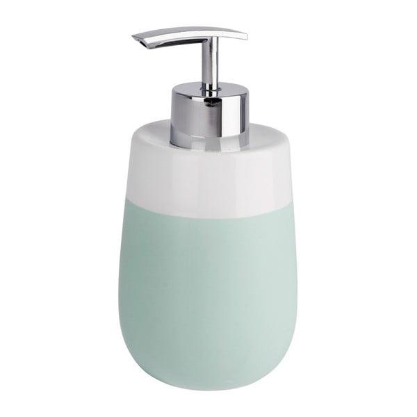 Zielono-biały ceramiczny dozownik do mydła Wenko Matta