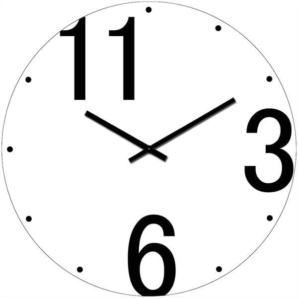 Skleněné hodiny Tři, šest, jedenáct, 34 cm