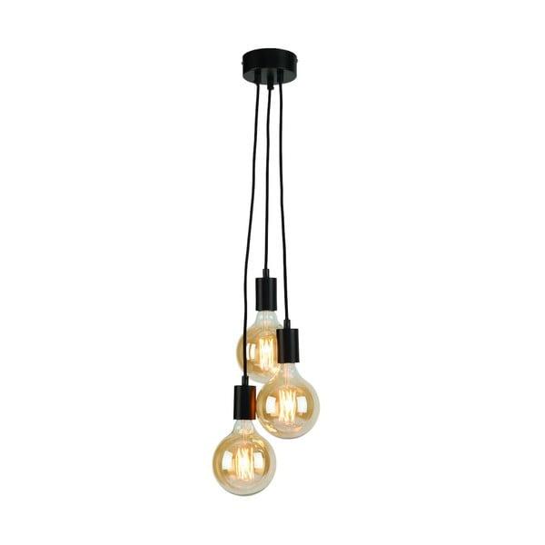 Černé závěsné svítidlo Citylights Oslo Triple