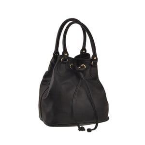 Černá kožená kabelka Florence Bags Apollo