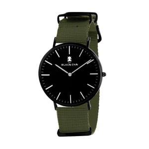 Tmavě zelenočerné pánské hodinky Black Oak Armo