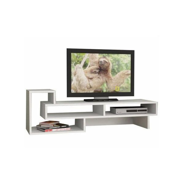 Televizní stolek Tetra, bílý