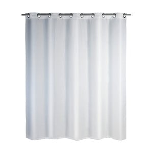 Bílý sprchový závěs Wenko Comfort Flex, 180x200cm