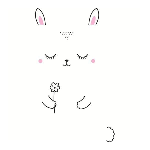 Sada nástěnných samolepek Bunny