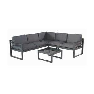 Set šedo-černého zahradního nábytku a čtvercového stolku Hartman Oliver Black Grey